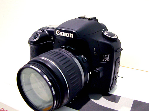 Canon EOS 30D with lens