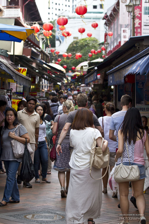 Busy street of Chinatown