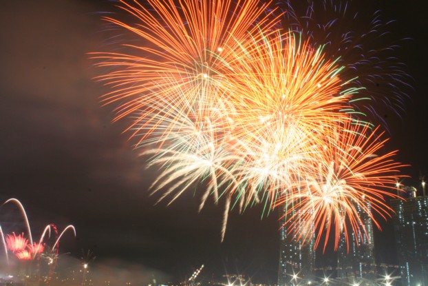 An Undisturbed Encounter with Fireworks