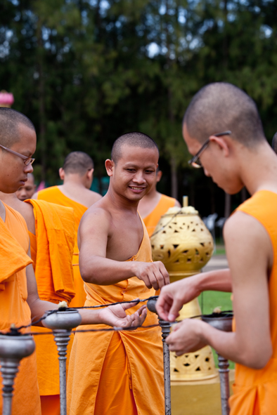Monks busy at work