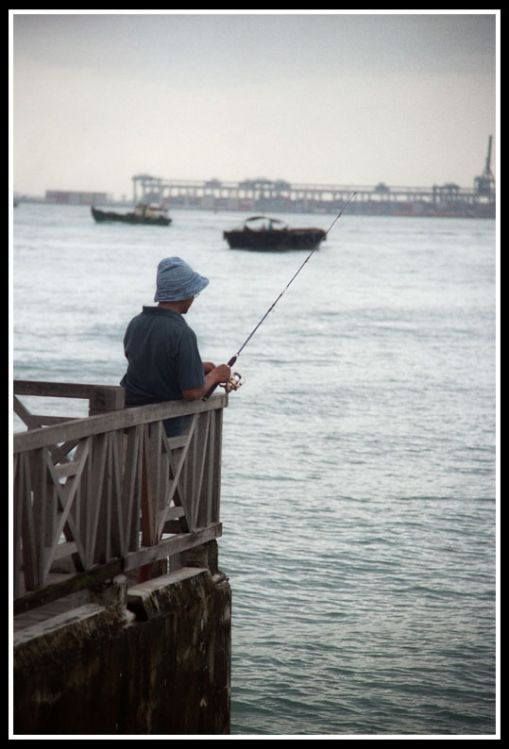 Another man fishing