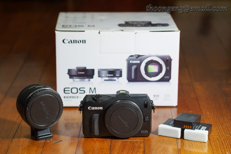 Canon EOS M and EF-EOS M adapter