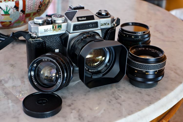 Chinon SLR with M42 lenses