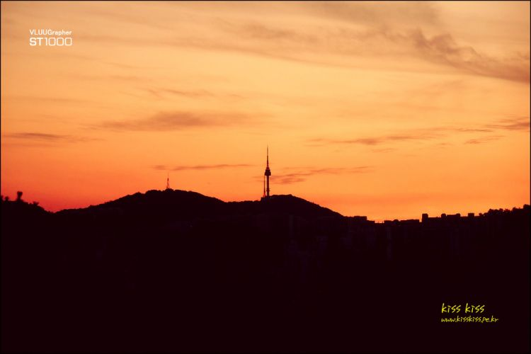 In to a sunset #  Namsan Tower