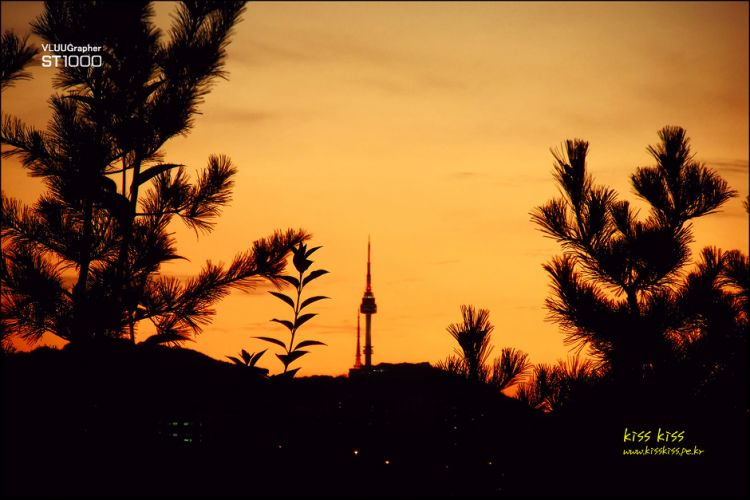 In to a sunset #  Namsan Tower- shadow
