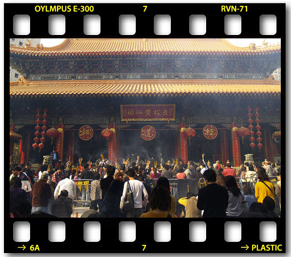 Temple Goers - Hong Kong