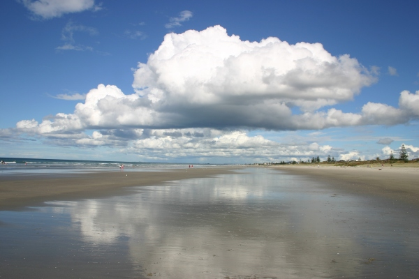 Reflections on the Mount beach