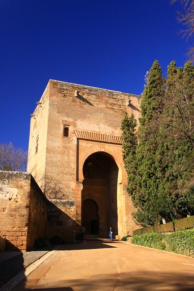 One of the entrances to the Al-Hambra, Granada, Spain
