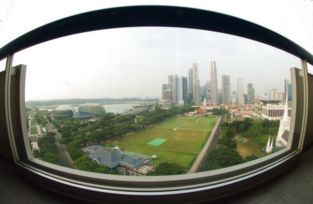 Aerial view of Singapore City #2