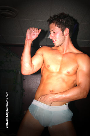 Clint shows off more than his bulging muscles.