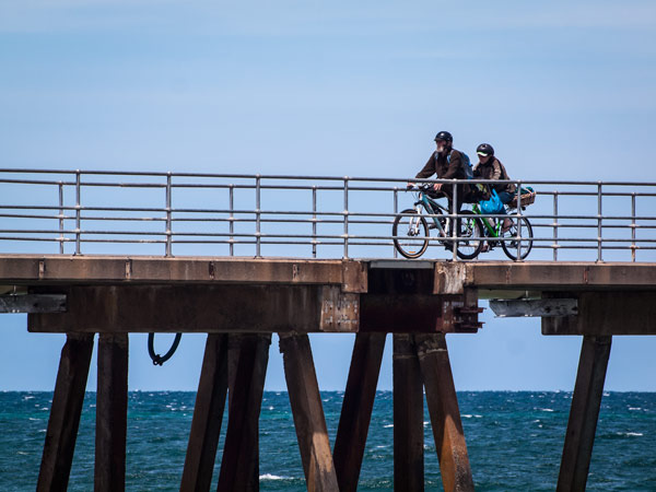 Cycling on the Jetty