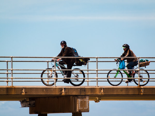 Cycling on a Jetty