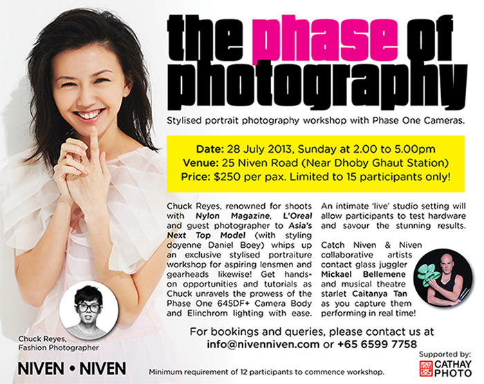 Portrait Photography workshop with Fashion Photographer Chuck Reyes