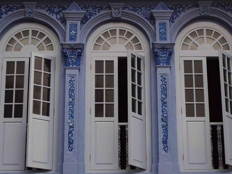 Windows in Blue Shophouse